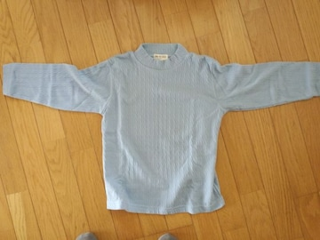 未使用品!水色のトップス・長袖シャツ【120�a】