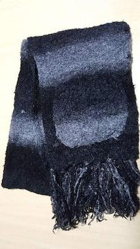 グラデーション★ボタン&ポケット付き★マフラー