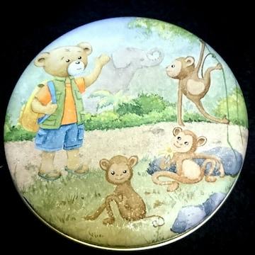 ファンシー 缶 外国 土産 空き缶 菓子 熊 猿 象 食品 パッケージ