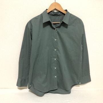 GU くすみグリーン ブラウス シャツ