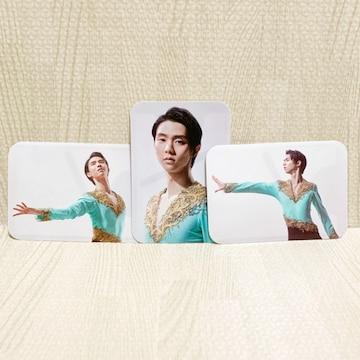 【NEW/非売品】羽生結弦オリジナル カードケース3枚組/白