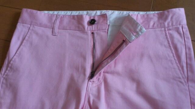 激安90%オフハーフパンツ(美品、無地、ピンク、32) < 男性ファッションの
