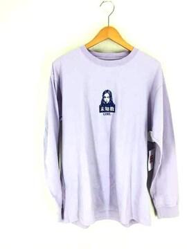 X-girl(エックスガール)KANJI FACE L/S TEEクルーネックTシャツ