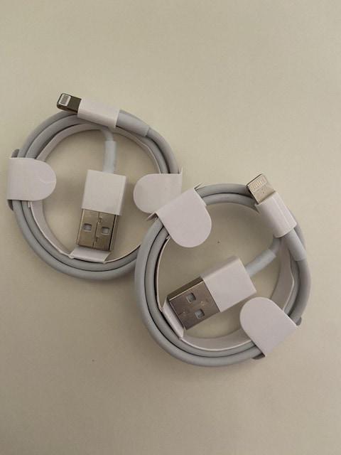 充電ケーブル ライトニングケーブル 2本セット 新品 未使用 < 家電/AVの