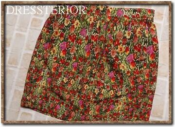 ドレステリア 花柄シルクミニスカート