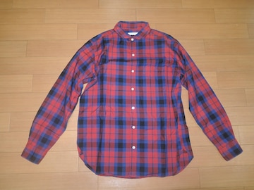 SILAS サイラス チェックシャツ L 赤青系 薄手 長袖