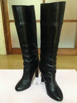 ☆DIANA(ダイアナ)☆レザーブーツ☆美品★黒★22�p♪
