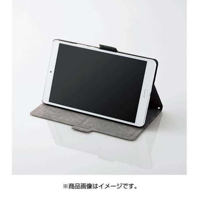 ★ELECOM [dtab Compact d-01J フラップカバー 薄型 ブラック < PC本体/周辺機器の