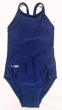 AQUA SPEED〓ワンピーススイミングスクール水着〓無地紺色〓水泳授業〓110cm