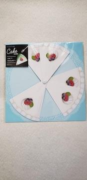 グリーティングカード バースデーカード ケーキの形 ブルーベリー&ラズベリー 封筒つき