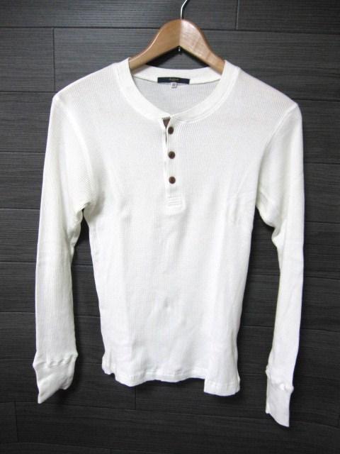 □SIMPLICITE/シンプリシティエ ヘンリー 長袖 サーマル Tシャツ/メンズ38(S)  < 男性ファッションの