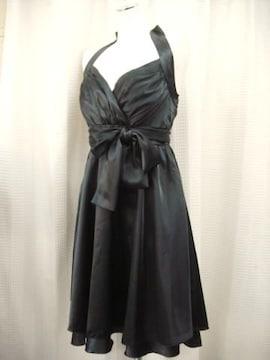 【FEE BOUCLE】黒ホールターネックワンピースドレス