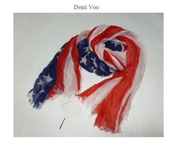 デミヴー*Demi Voo★SUBTLE LUXURY USAフラッグ柔らかストール/新品