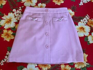 LODISPOTTO☆綺麗なピンクカラー☆パールビジュー付スカート☆