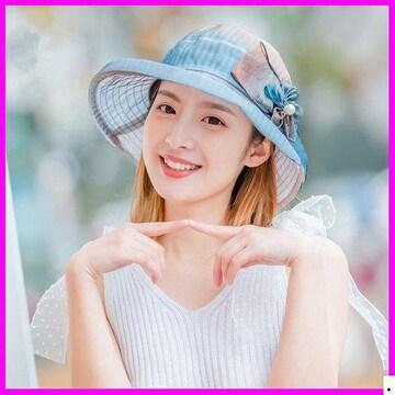 おすすめ春帽子☆ 夏定番 3# UV対 ラワーハット 933