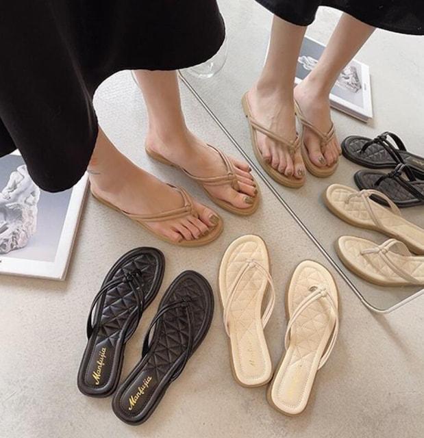 Y201即決 新品 トング サンダル 白 24.5 エスペランサ ダイアナ ピンキー 好きに < 女性ファッションの