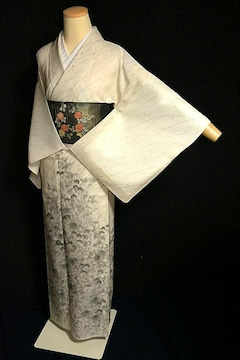 【夏用】【最高級】新品同様 紗紬 手描き 秋草文 訪問着 T2244