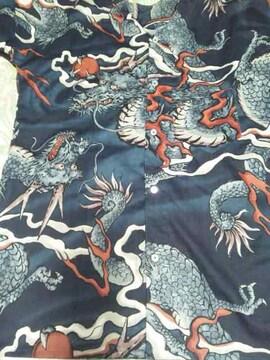 ☆新柄濃紺×大龍玉柄ダボシャツ4L