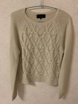 UNTITLEDニットセーター アンタイトルサイズ2ベージュ美品日本製