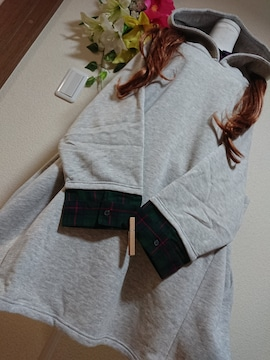 ★新品タグ8L★重ね着風チュニ★裏起毛¥5469