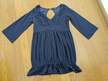 Tシャツ 七分丈 紺色 Mサイズ まとめ買い歓迎