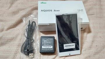 新品SIMフリー  mineo AQUOS SERIE SHL25 ホワイト