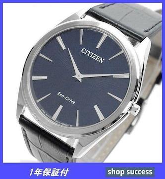 新品 即買///シチズン ソーラー腕時計 AR3070-04L ブラック