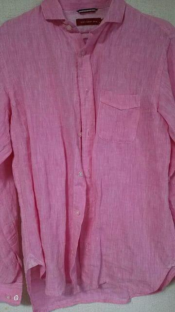 ピンク。カジュアルシャツ☆*Msize☆*シンプル。