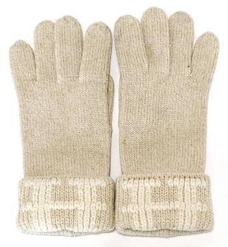 正規エルメス手袋カシミヤホワイトラメアイボリーMEレディー