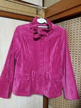 超美品♪華やかピンクジャケット《ベロア調》LLサイズ