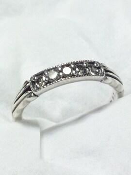 ダイヤモンド 0.2ct 5ストーン  アガット【agete】SV リング 8号