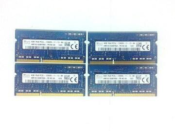 ★メモリ SKhynix PC3L-12800 4GB 4個セット