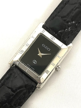 正規グッチ腕時計4200SL黒文字盤レディースウォッチSSクォー