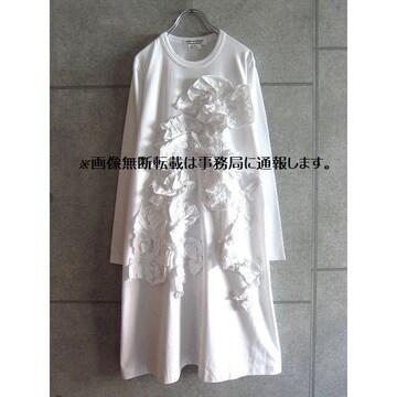新品 コムデギャルソン コムコム フリル Tシャツ ワンピース