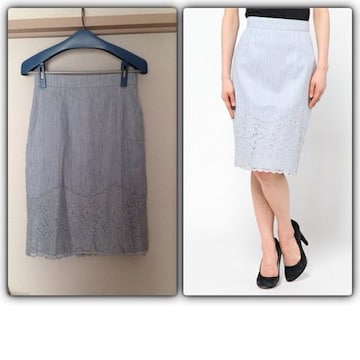 新品ジャスグリッティー 裾レースタイトスカート