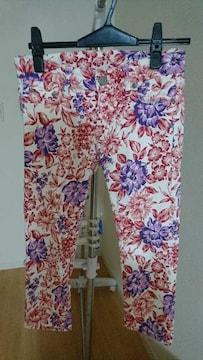AZULBYMOUSSY 花柄スキニー クロプッド丈