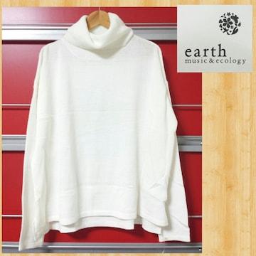 定価6589円 アースミュージック&エコロジー タートルニット 新品 M セーター