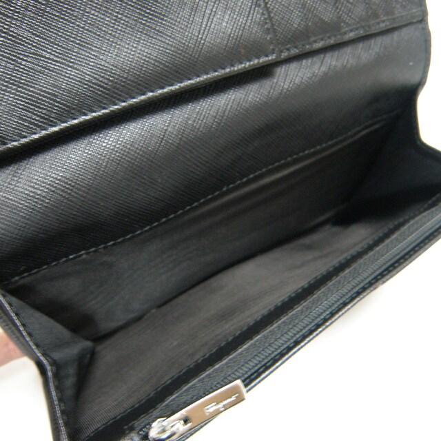 Ferragamoフェラガモ 二つ折り長財布 ヴァラ 黒 良品 正規品 < ブランドの