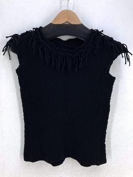ISSEY MIYAKE me(イッセイミヤケミー)絞り加工ノースリーブカットソーシャツ・ブラウス