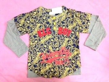 新品■L(130cm)サイズ■KLCバグ長袖べースデザインシャツ