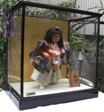 端午飾/光本作;,弁慶人形飾りケース入中古美品No7