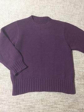 741.編み機☆セーター☆あずき色