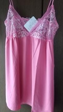 Mサイズ税抜3900円値札付き愛らしいピンク色合い高貴な!ミニ丈スリップ!