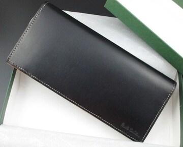 ギフトに☆新品/箱付 ポールスミス ブリル牛革 長財布 ブラック