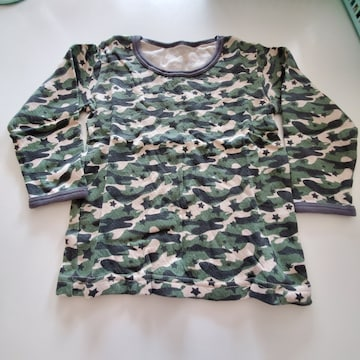 迷彩柄、長袖シャツ�@100