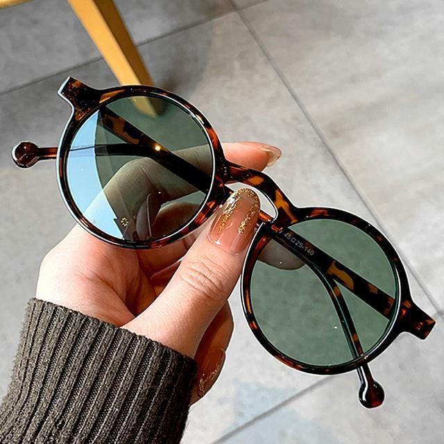 サングラス ラウンド メガネ レンズ 伊達メガネ UV400 べっ甲 < 男性ファッションの