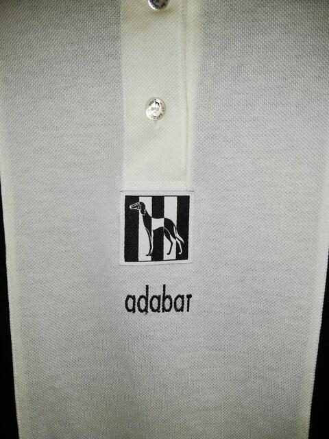 アダバット 半袖ポロシャツ 白×黒 美品 < ブランドの