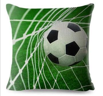 新品 サッカー サッカーボール クッションカバー b