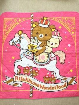 リラックマ ワンダーランド 10th リバーシブル キルトマット 中古 美品