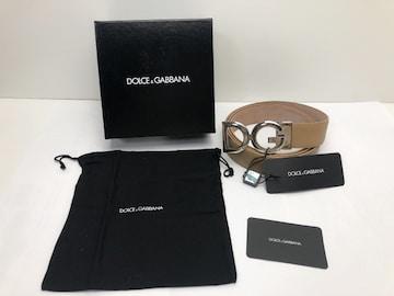 C108 ドルチェ&ガッバーナ ベルト 本革 メンズ レディース